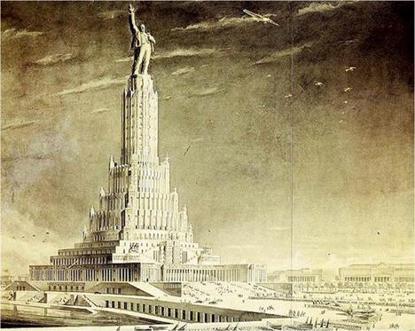 El Palacio de los Soviets.