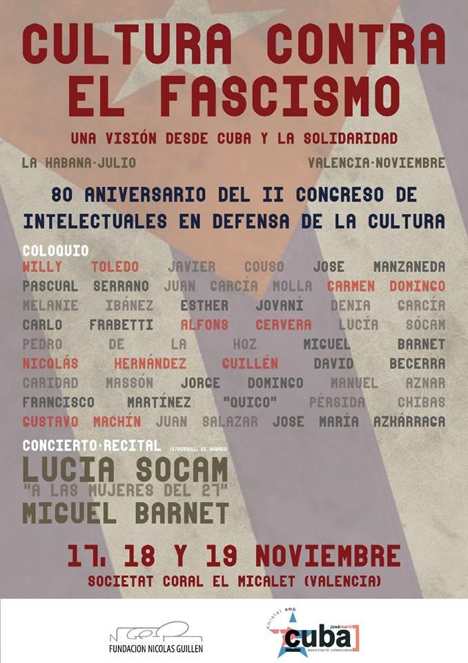 Cartel general coloquio Cultura contra Fascismo