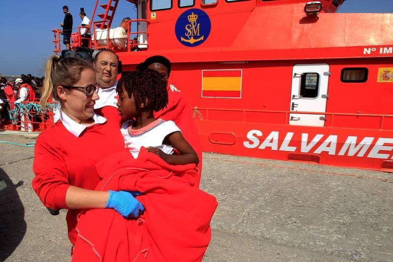 Salvamento rescata a 149 inmigrantes en el mar de Alborán
